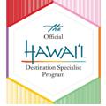 Certificado de agencia de viajes especialista en viajes a Hawai