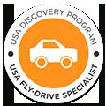 Certificado de agencia de viajes especialista en viajes a EEUU Fly and Drive