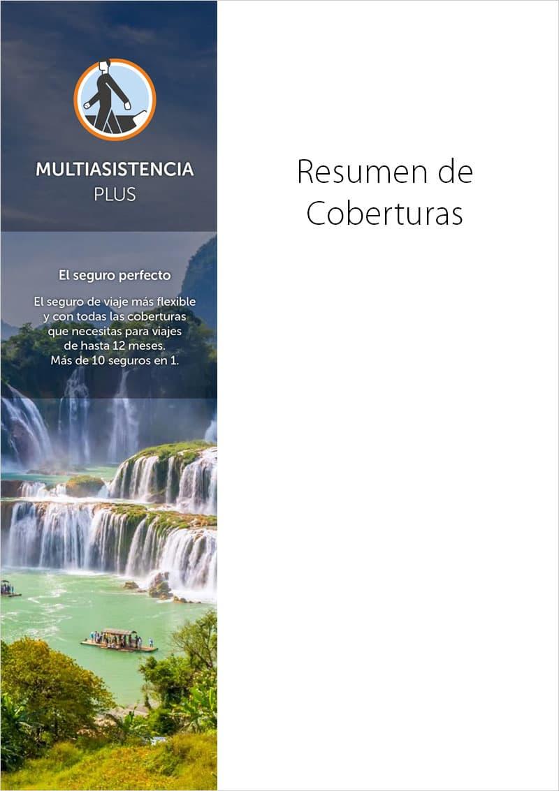portada Seguro viajes Multiasistencia Plus Resumen de coberturas