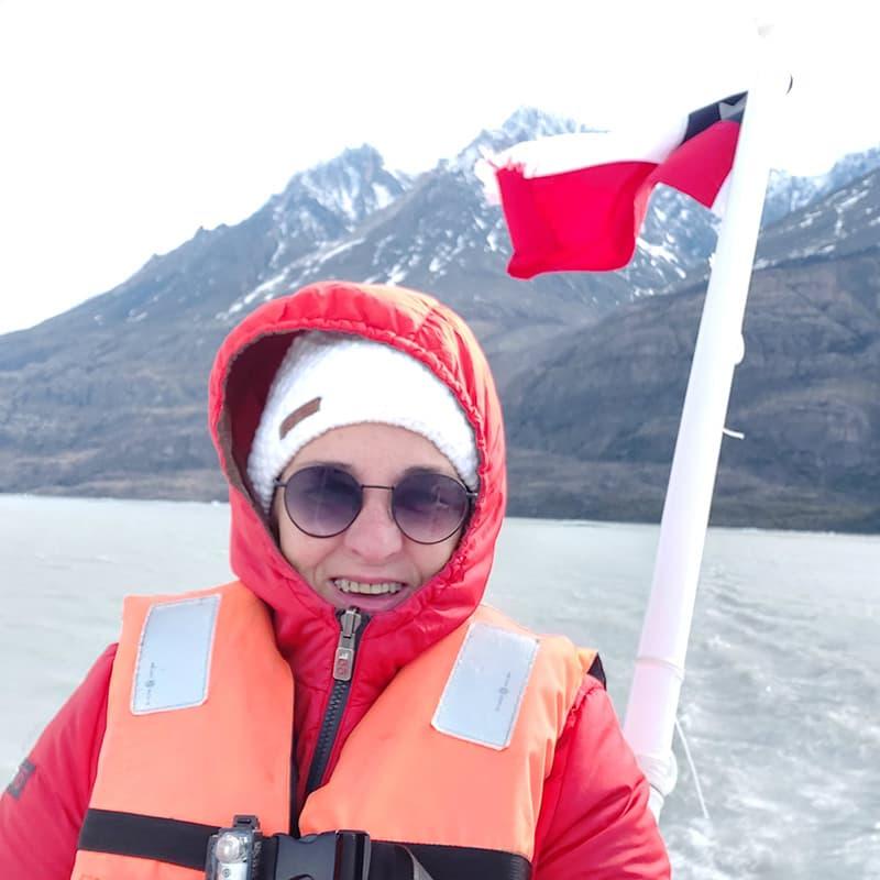 Blanca en Chile, navegando entre los icebergs, Viaje a Chile